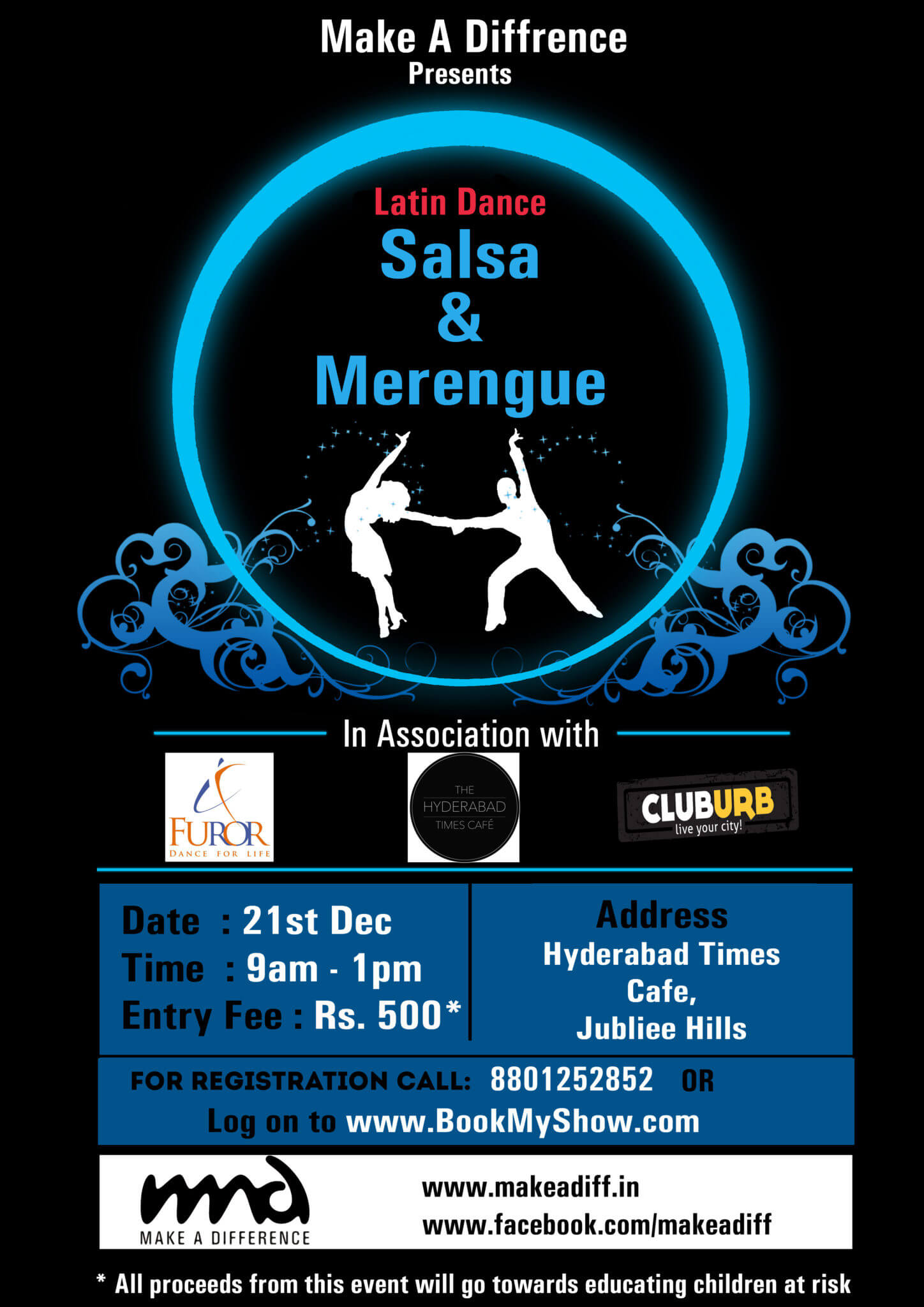 Introduction to Latin Partner Dance – Salsa & Merengue – a charity fundraiser for Make a Difference Foundation