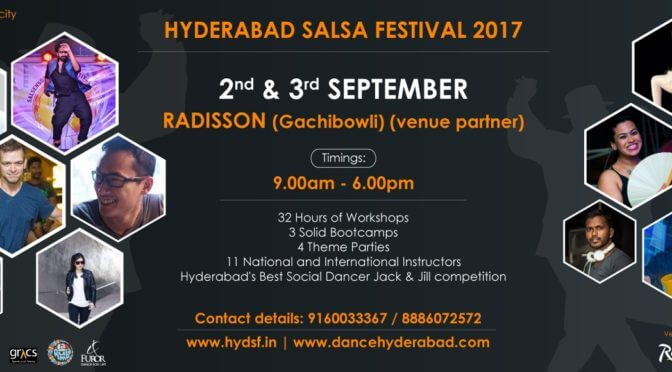 Hyderabad Salsa Festival 2017, 1st to 3rd Sept